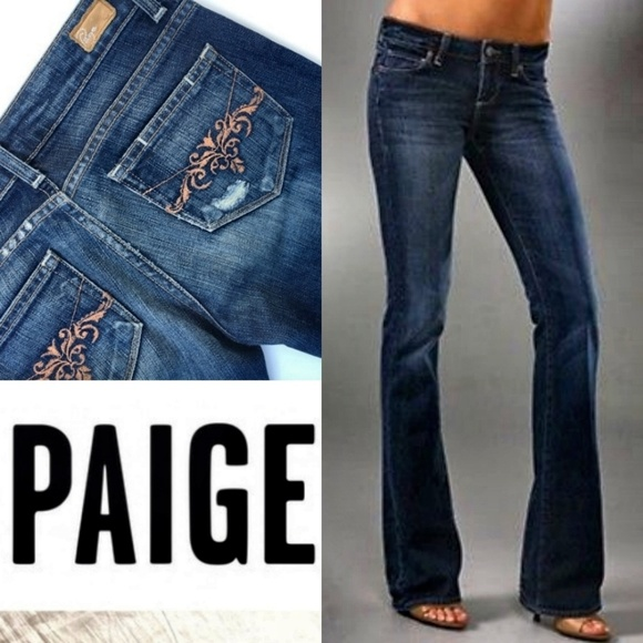PAIGE Denim - Paige Laurel Canyon Embroidered Bootcut Jeans 32